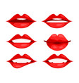 red woman lips in cartoon style stock vector image vector image
