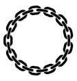 round frame of chain vector image vector image