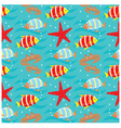 seamless fishes pattern vector image vector image