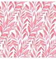 Seamless pink pattern leaves