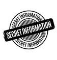 secret information rubber stamp vector image vector image
