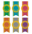 set ribbon badges vector image
