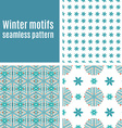 Set seamless pattern of snowflakes vector image vector image