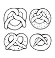 set various outline pretzels objects are vector image vector image