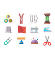 sewing tools cloth tailoring craft sew fashion vector image