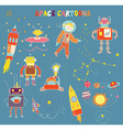 Space cartoons for child vector image vector image