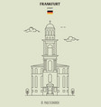 st pauls church in frankfurt vector image vector image