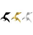 three color black gold silver logo eagle vector image vector image