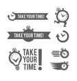 time management logo template concept icon vector image