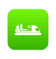 toy car icon digital green vector image vector image