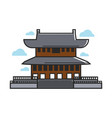 traditional asian temple vector image
