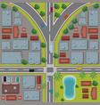 urban top view cartoon vector image vector image