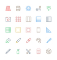 User Interface Colored Line Icons 27 vector image vector image