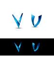 v letter design vector image vector image