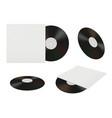 vinyl record mockup of retro music stuff dj album vector image