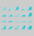 women shoes patch sticker icons set vector image