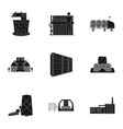 wool tangle machine and other web icon in black vector image vector image