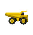 yellow tipper big wheels flat icon of vector image vector image
