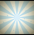 Blue Vintage Grunge Ray Background vector image