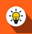 bulb flat design icon vector image