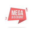 price label style big sale discount vector image