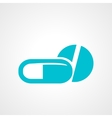 Pill and capsule icon vector image