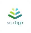 shape pyramid line logo vector image