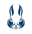 abstract rabbit face logo template vector image vector image