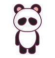 animal panda vector image vector image