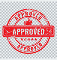 approved stamp with old vintage grunge effect vector image