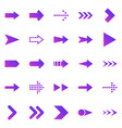 arrow gradient icons on white background vector image