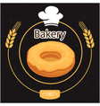 bakery donut oat circle back background ima vector image vector image