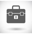 Briefcase single icon vector image vector image