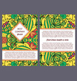 brouchure design with colorful floral pattern vector image