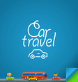 Car travel concept Design template vector image vector image