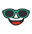 Cartoon face with sunglasses icon