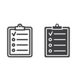 checklist line and glyph icon clipboard and note vector image