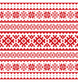 christmas winter seamless pattern sami vector image vector image