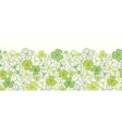 Clover line art horizontal seamless pattern vector image