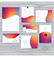 corporate identity wave pattern Abstract vector image vector image