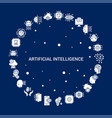 creative artificial intelligence icon background vector image
