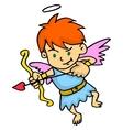 Cupid aiming at something cartoon vector image