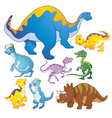 Cute Dinosaurs group vector image