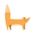 cute fox flat cartoon forest vector image