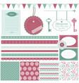 cute scrapbook design elements set vector image