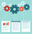 data processing concept in flat style vector image vector image