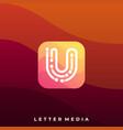 digital media icon application template vector image