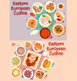 eastern european cuisine icon set for food design vector image