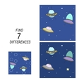 educational game find differences vector image