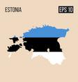 estonia map border with flag eps10 vector image vector image